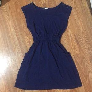 Forever 21 Blue 100% Cotton MIDI Dress